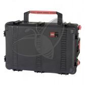 Valise HPRC 2760CW noire avec mousse et roues