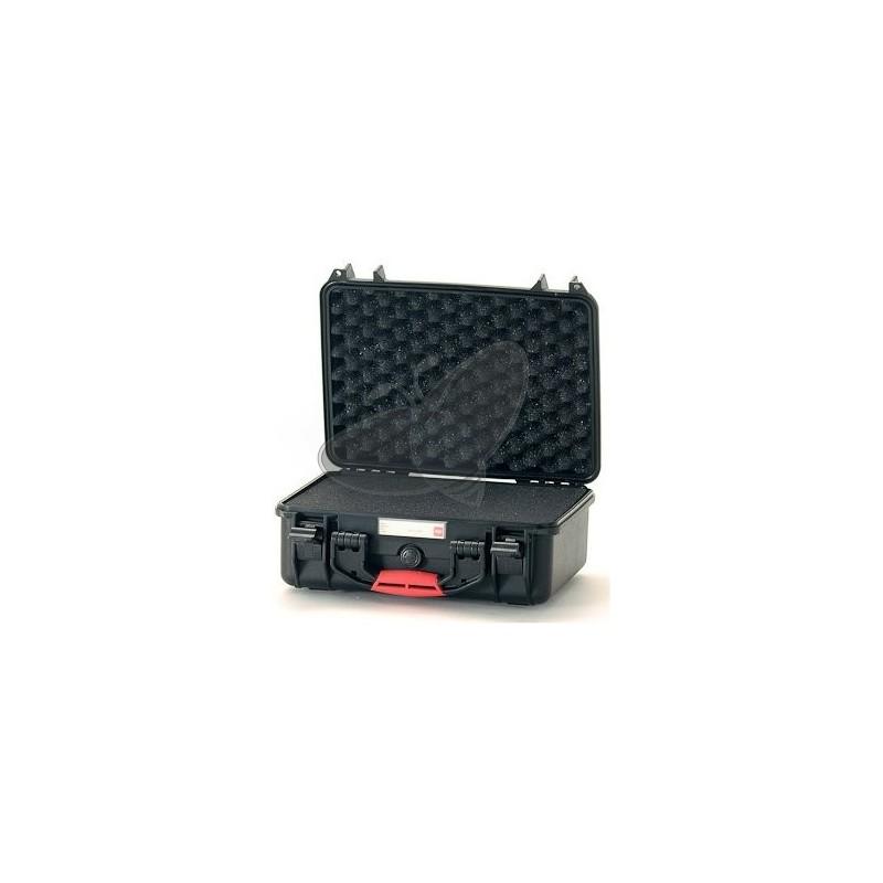 Valise HPRC 2400C noire avec mousse