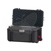 Valise HPRC 4300CW noire avec mousse et roues