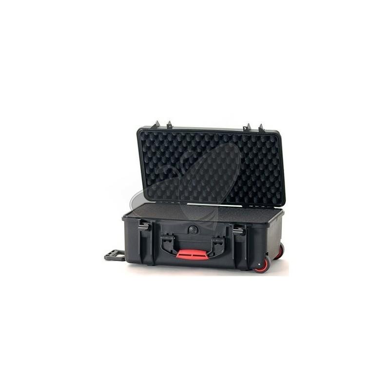 Valise HPRC 2550CW noire avec mousse et roues