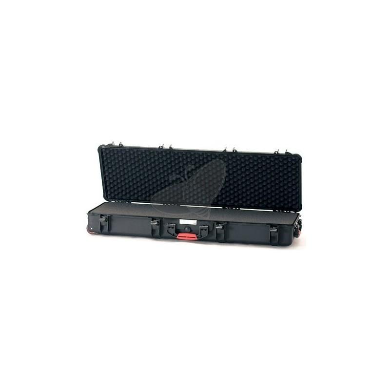Valise HPRC 5400CW noire avec mousse et roues