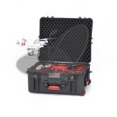 Valise HPRC2700 pour DJI PHANTOM 2/2 VISION/2 VISION+ avec roues et mousse rouge et noire