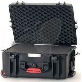 Valise HPRC 2600CW noire avec mousse et roues