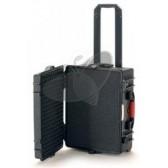 Valise HPRC 2600CW noire avec mousse prédécoupée et roues