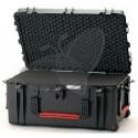 Valise HPRC 2780CW noire avec mousse et roues