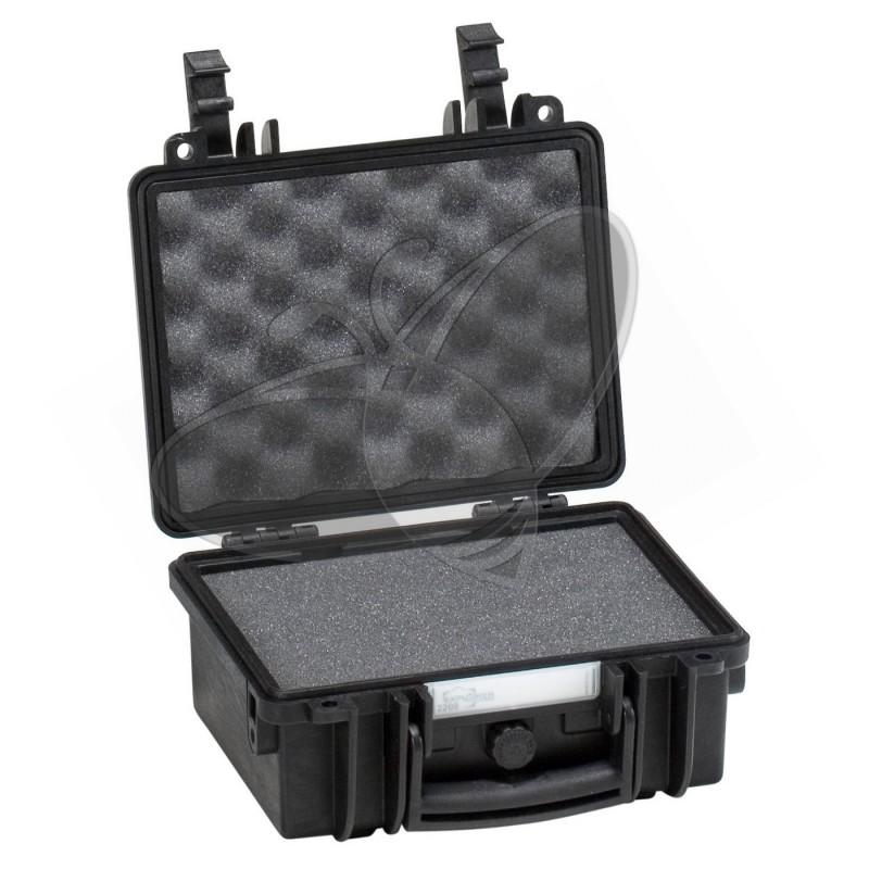 Valise EXPLORER 2209 noire avec mousse prédécoupée