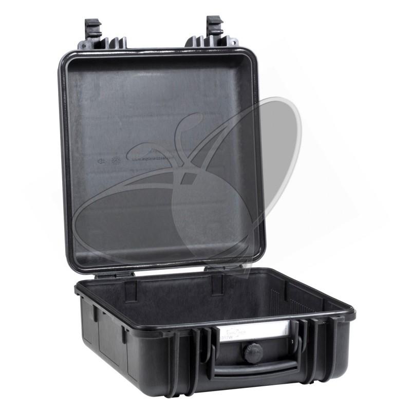 Valise EXPLORER 3317W noire avec roulettes et sans mousse