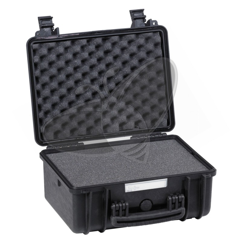 Valise EXPLORER 3818 noire avec mousse prédécoupée
