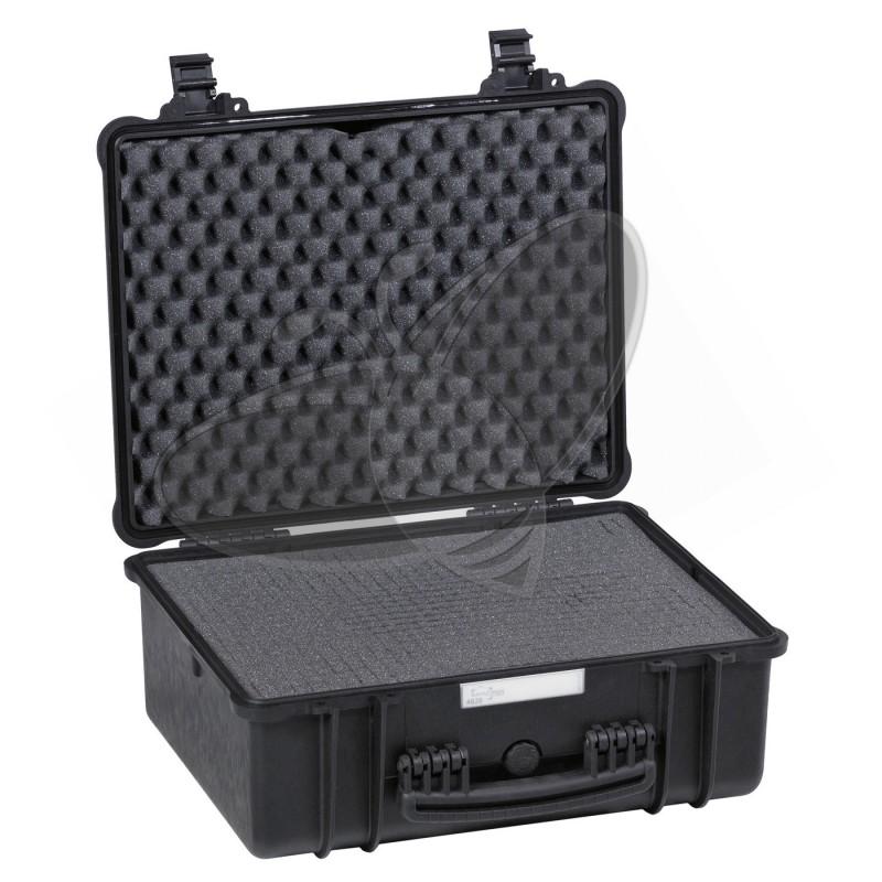Valise EXPLORER 4820 noire avec mousse prédécoupée