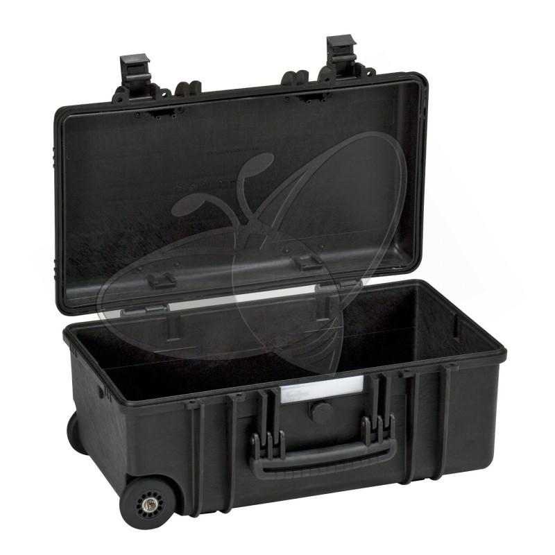 Valise EXPLORER 5122 noire sans mousse et avec roulettes