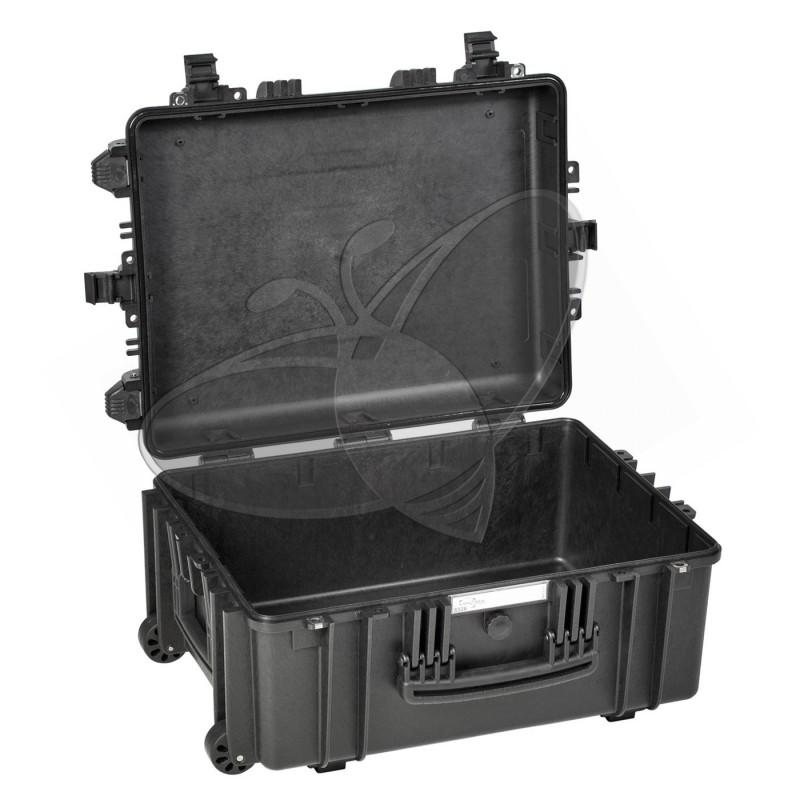 Valise EXPLORER 5326 noire sans mousse et avec roulettes