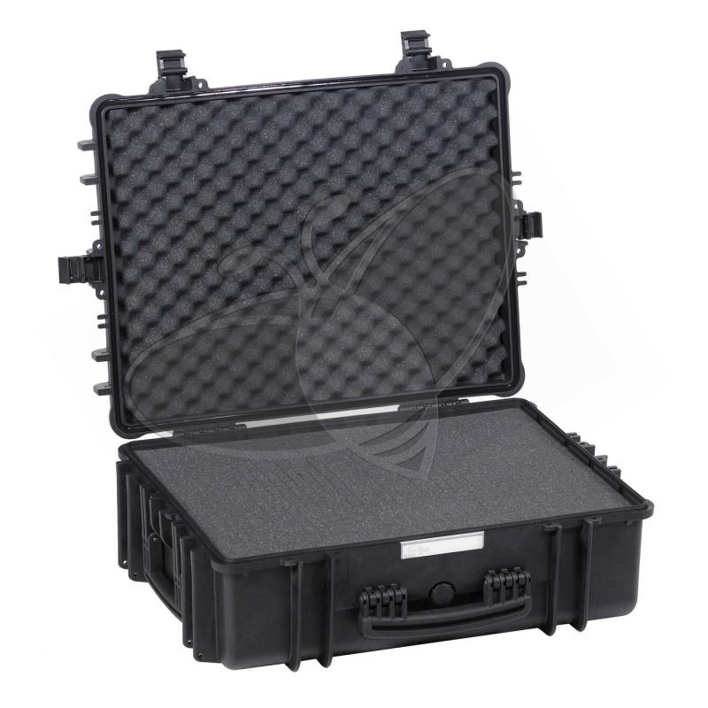 Valise EXPLORER 5822 noire avec mousse prédécoupée