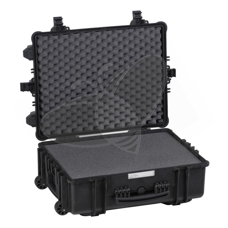Valise EXPLORER 5823 noire avec mousse et roulettes