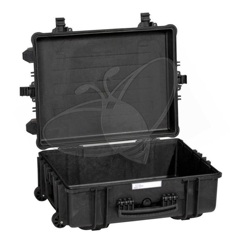 Valise EXPLORER 5823 noire sans mousse et avec roulettes