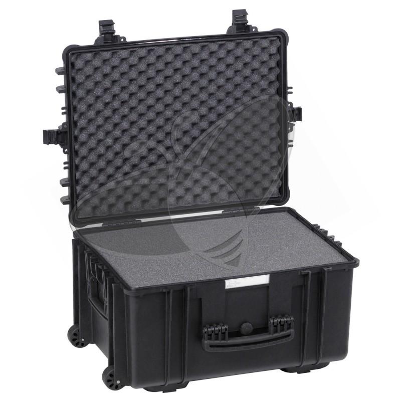 Valise EXPLORER 5833 noire avec mousse et roulettes