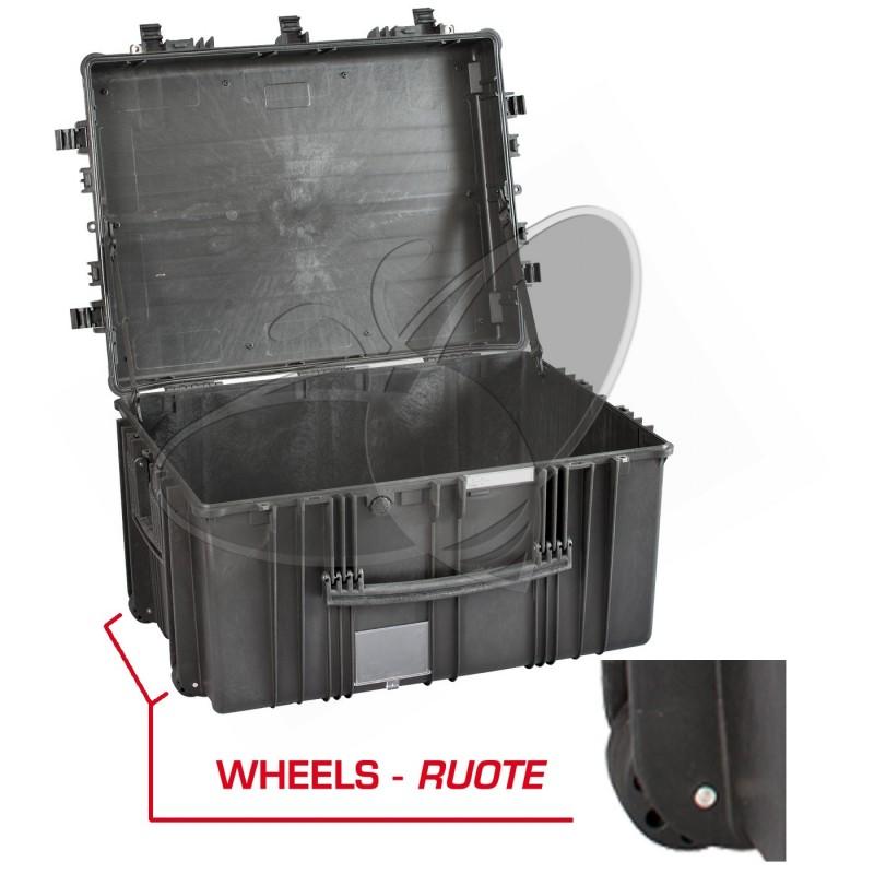 Valise EXPLORER 7745 noire sans mousse et avec roulettes