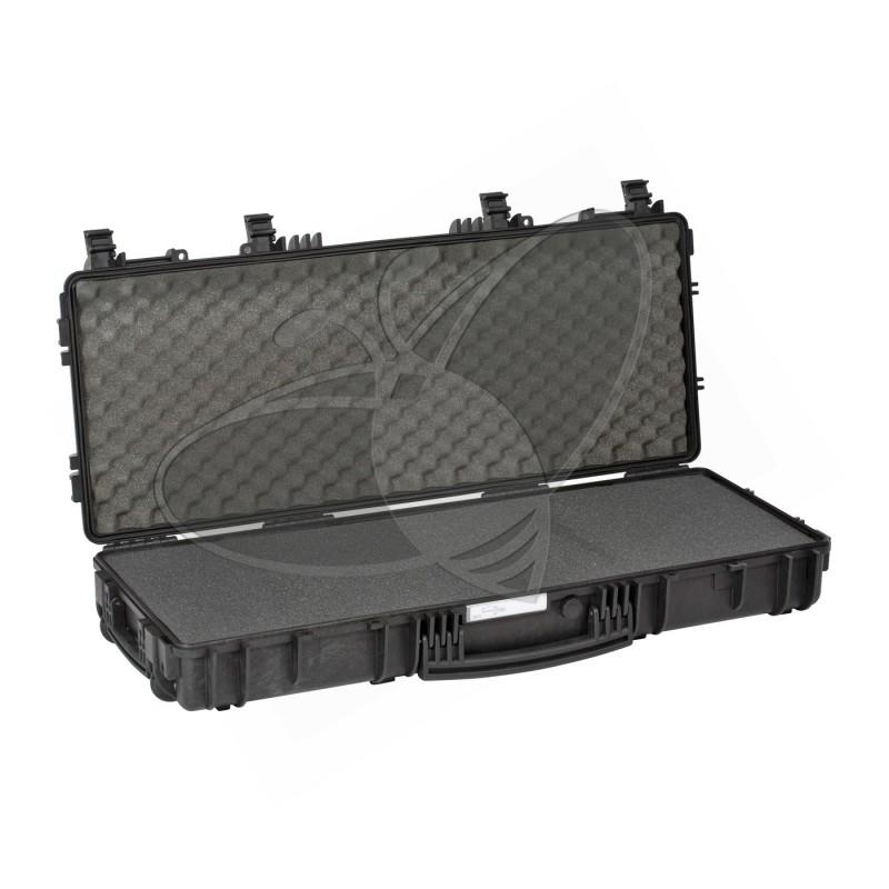 Valise EXPLORER 9413 noire avec mousse et roulettes