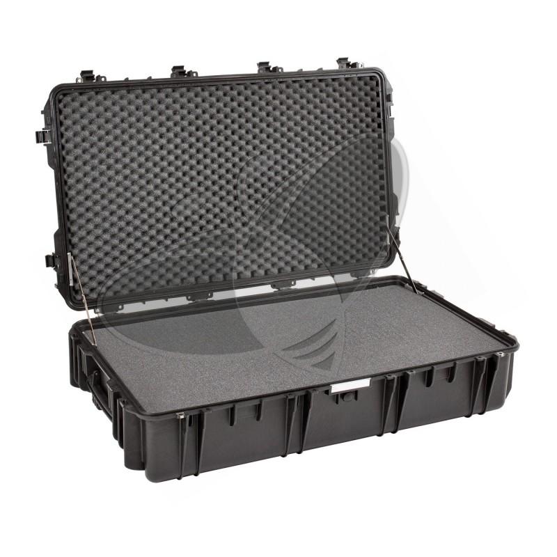 Valise EXPLORER 10826 noire avec mousse et roulettes