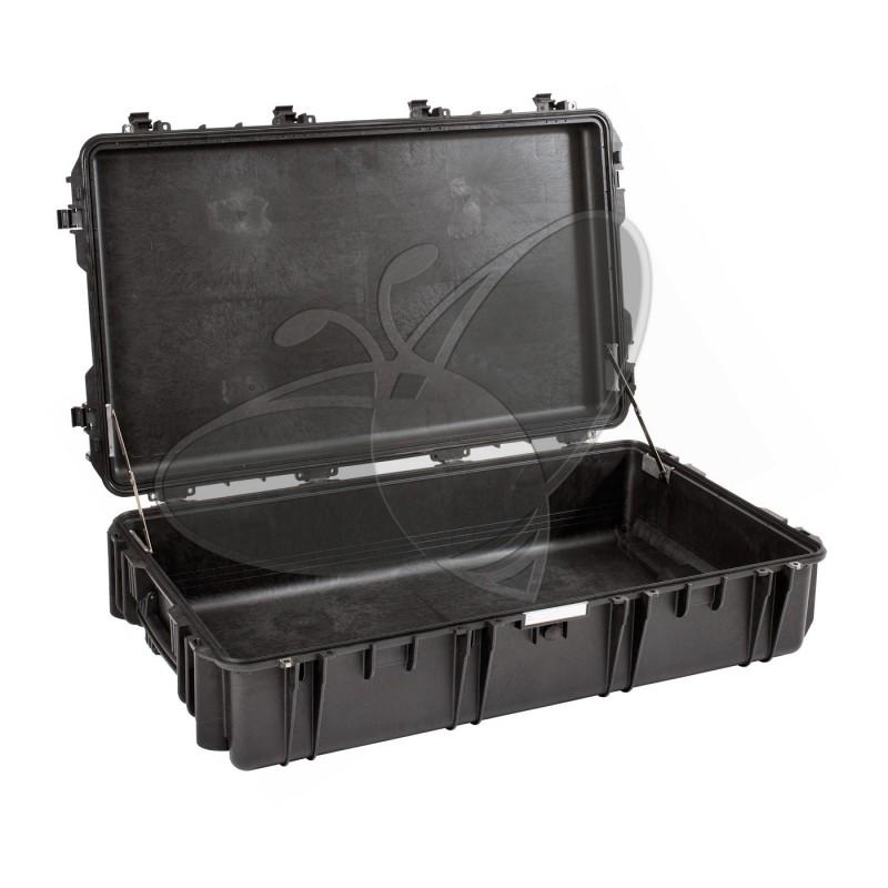 Valise EXPLORER 10826 noire sans mousse et avec roulettes