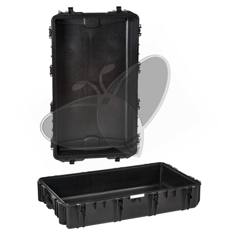 Valise EXPLORER 10840 noire sans mousse et avec roulettes