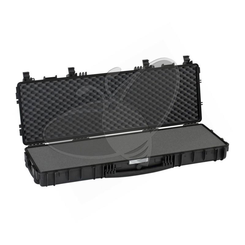 Valise EXPLORER 11413 noire avec mousse et roulettes