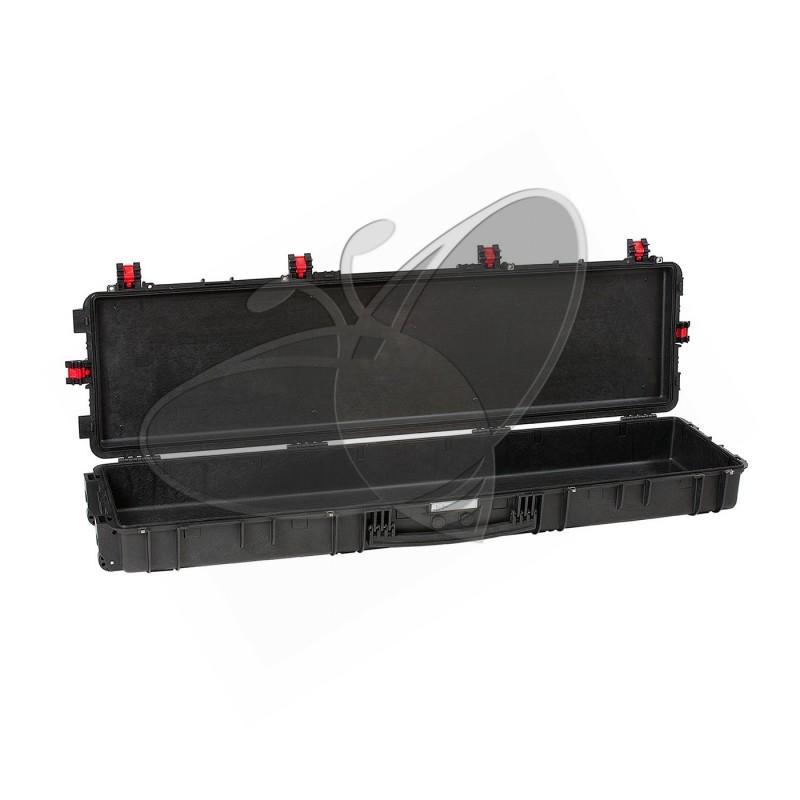 Valise EXPLORER 15416 noire sans mousse et avec roulettes